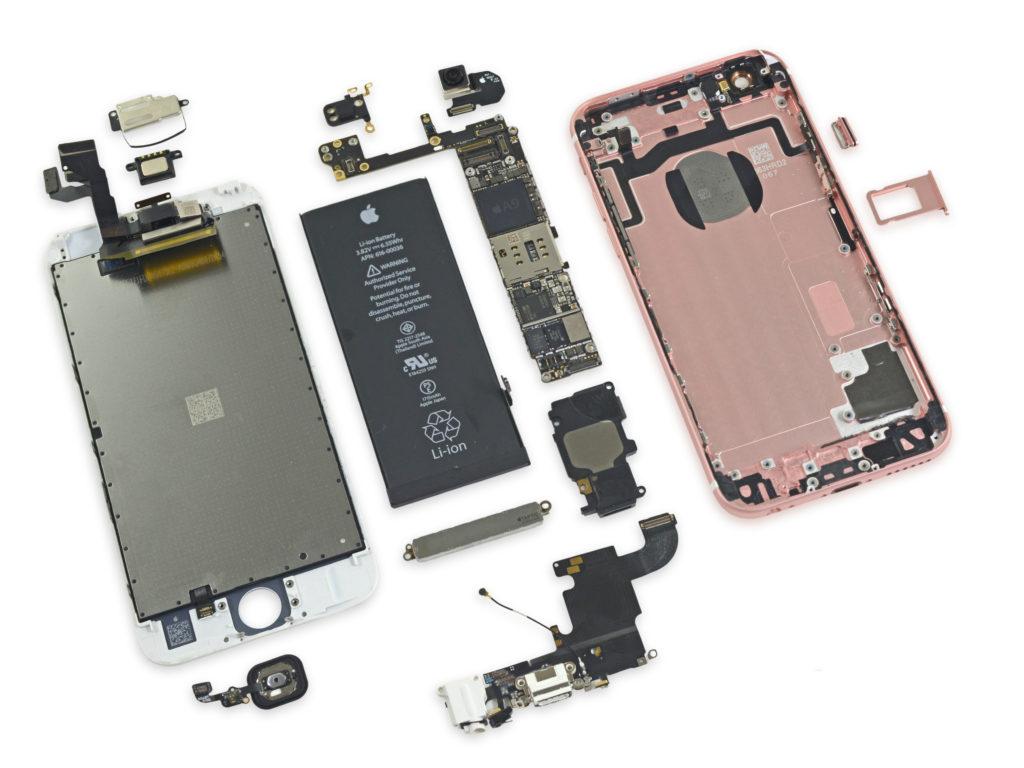 Разобранный iPhone 6S в bgacenter