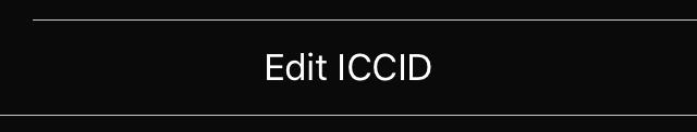 Пункт Edit ICCID