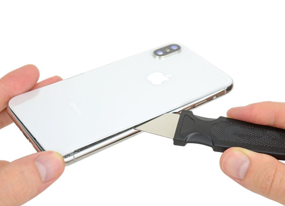 Как отделить заднее стекло айфон Х