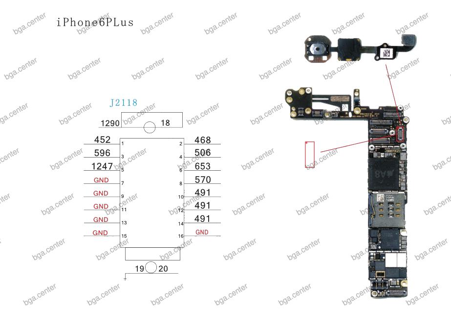 Падение напряжения на разъеме J2118 разъем iPhone 6 Plus.