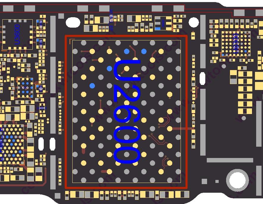 Диагностика контактной площадки памяти айфон 8