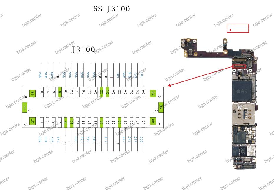 J3100 iPhone 6S. Обучение пайке в bgacenter