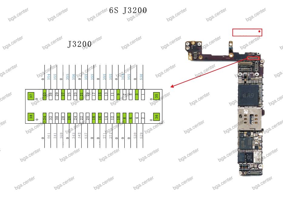 J3200 iPhone 6S. Обучение пайке в bgacenter