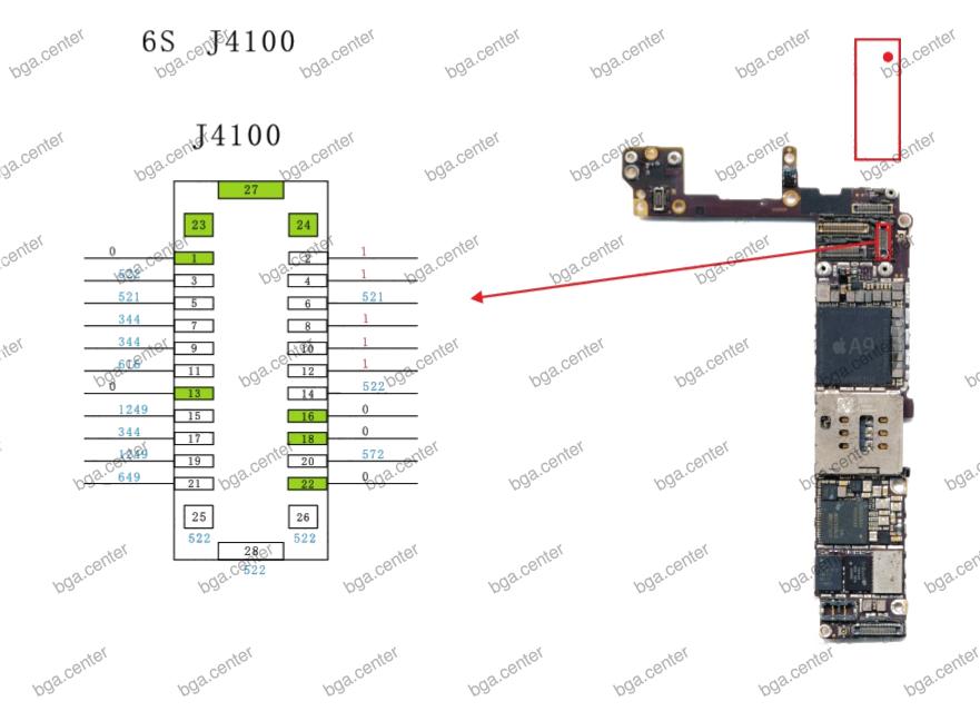 J4100 iPhone 6S. Обучение пайке в bgacenter