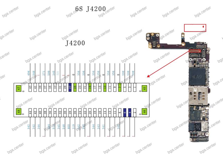 J4200 iPhone 6S. Обучение пайке в bgacenter