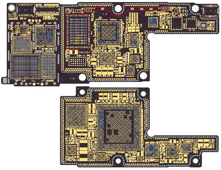 iPhone X компоненты на системной