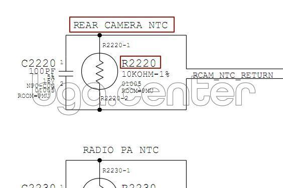 Терморезистор R2220 iPhone 6S