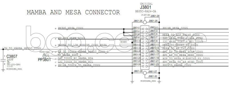 J3801 MAMBA AND MESA CONNECTOR