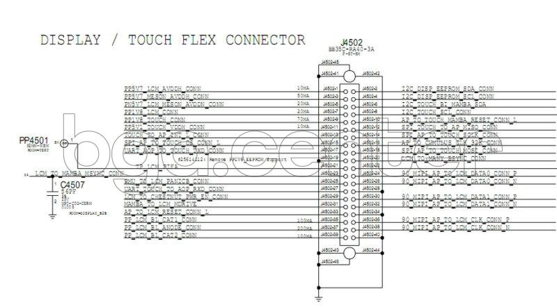 J4502 DISPLAY TOUCH FLEX CONNECTOR